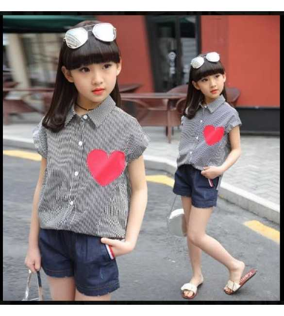 Set Girl Love Stripe Black